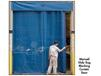 MANUAL SLIDE BUG BLOCKING SCREENED MESH CURTAIN DOORS