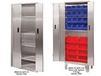 HEAVY DUTY BI-FOLD DOOR CABINETS - STAINLESS STEEL